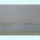 わたしの筆「川と橋と空と20121023」
