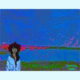 わたしの意筆「空川橋の模様と人」